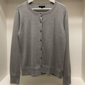 Banana Republic Metallic Cardigan in Gray/Silver
